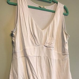 Boden white top undershirt, size 14 US